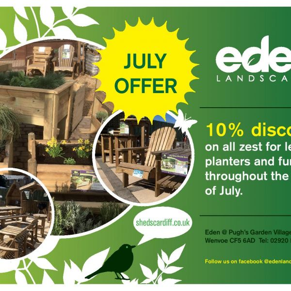 Image of 10% off selected Furniture, Grow Your Own, Raised Beds and Planters, and Veg and Herb Beds