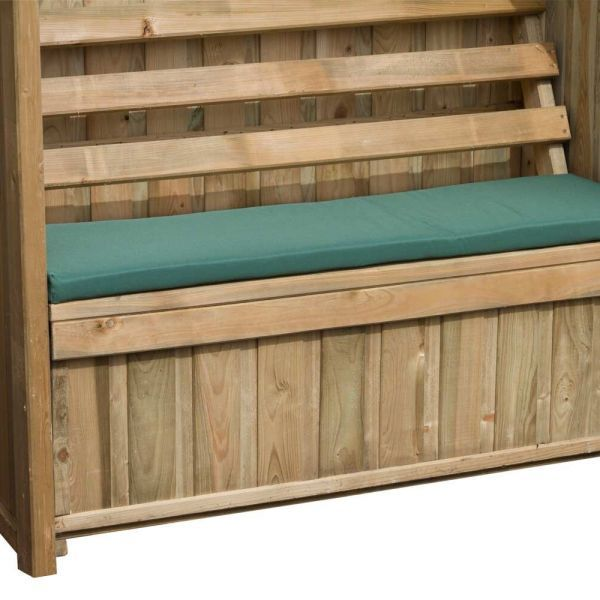 Image of Emily 4ft Bench and Pad Package Green